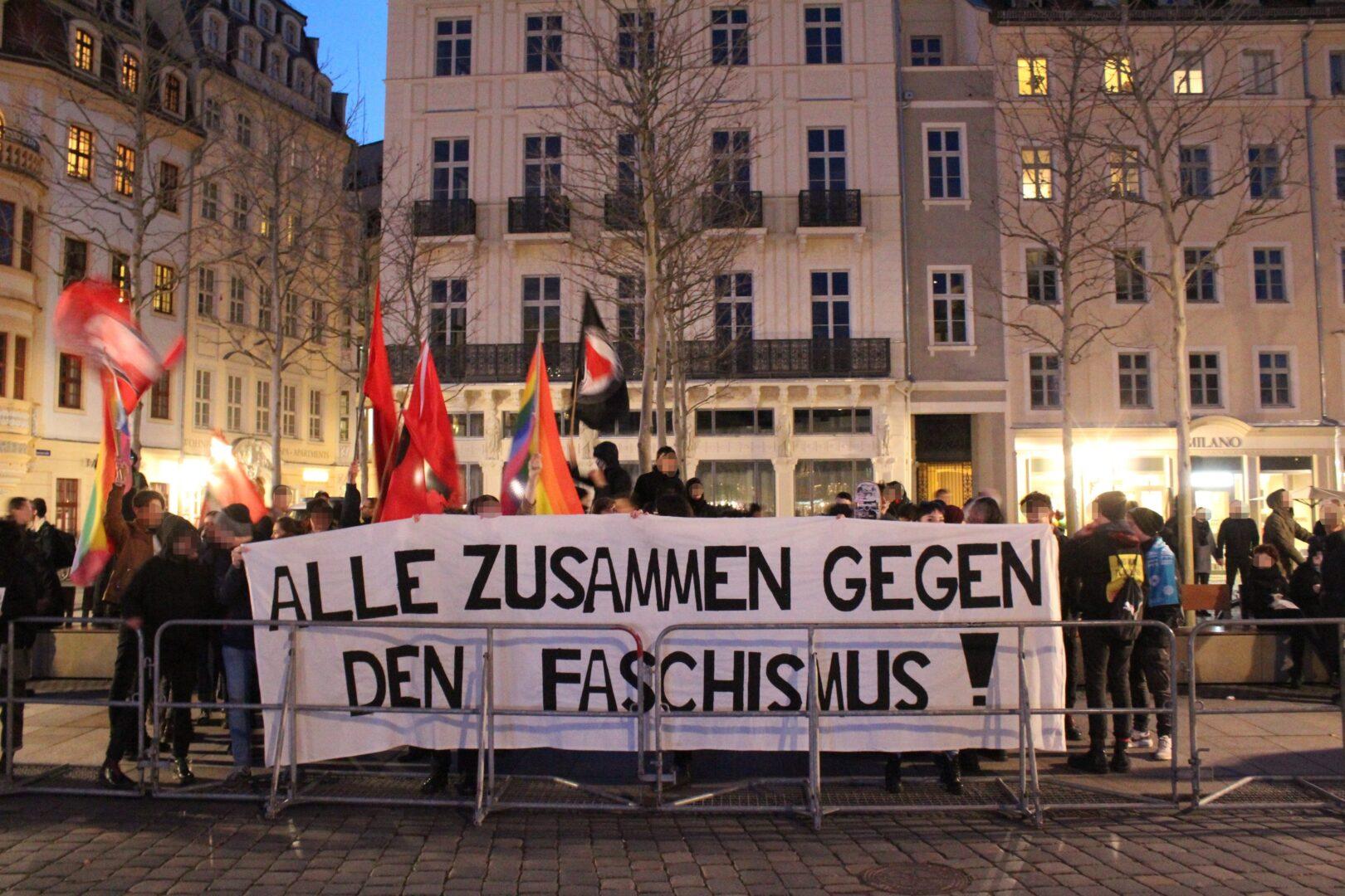 Proteste gegen Pegida, rassistischen Terror und der Situation an den Außengrenzen Europas | Alternative Dresden News