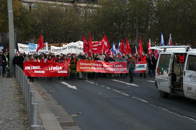 Block der Partei Die Linke
