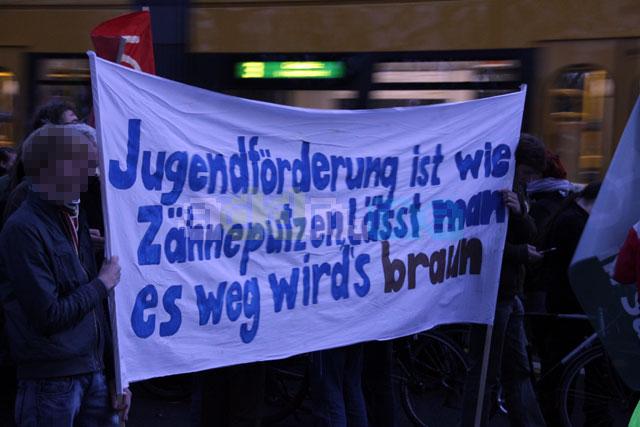 Transparent auf der Demonstration