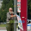 NPD-Folklore am Dresdner Postplatz