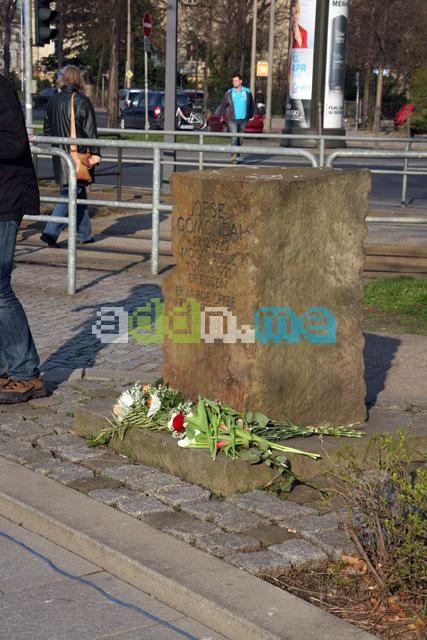 Gedenkstein am Jorge-Gomondai-Platz in Dresden